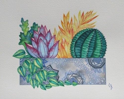 Watercolor wall art