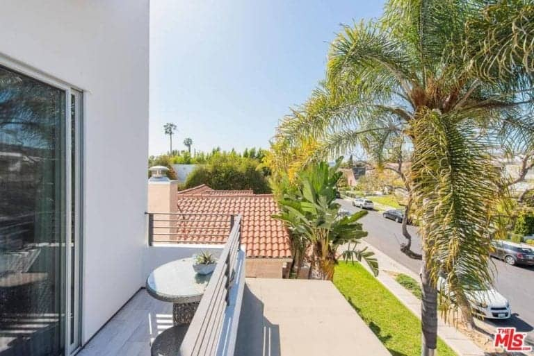 The terrace from one of the room overlooks the beautiful West Hollywood neighborhood.