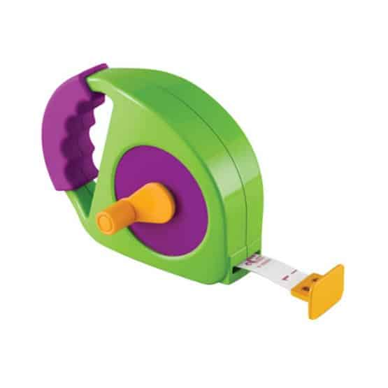 The child-sized manual-wind tape measure for kids.