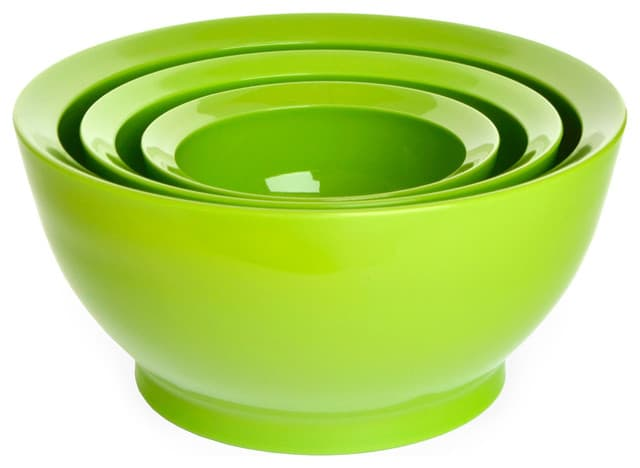 BPA-free mixing bowls in Lime Green.
