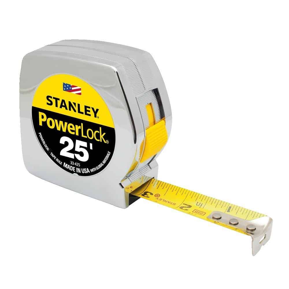 Stanley 33-425 Powerlock 25-foot by 1-inch measuring tape.