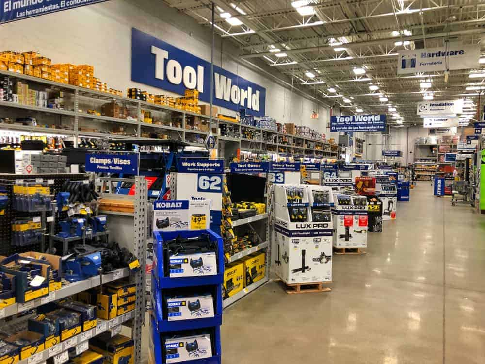 Lowe's hardware section.