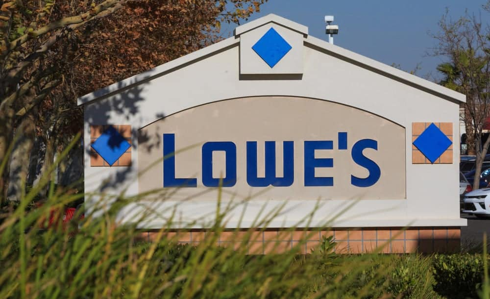 Lowe's business sign company logo.