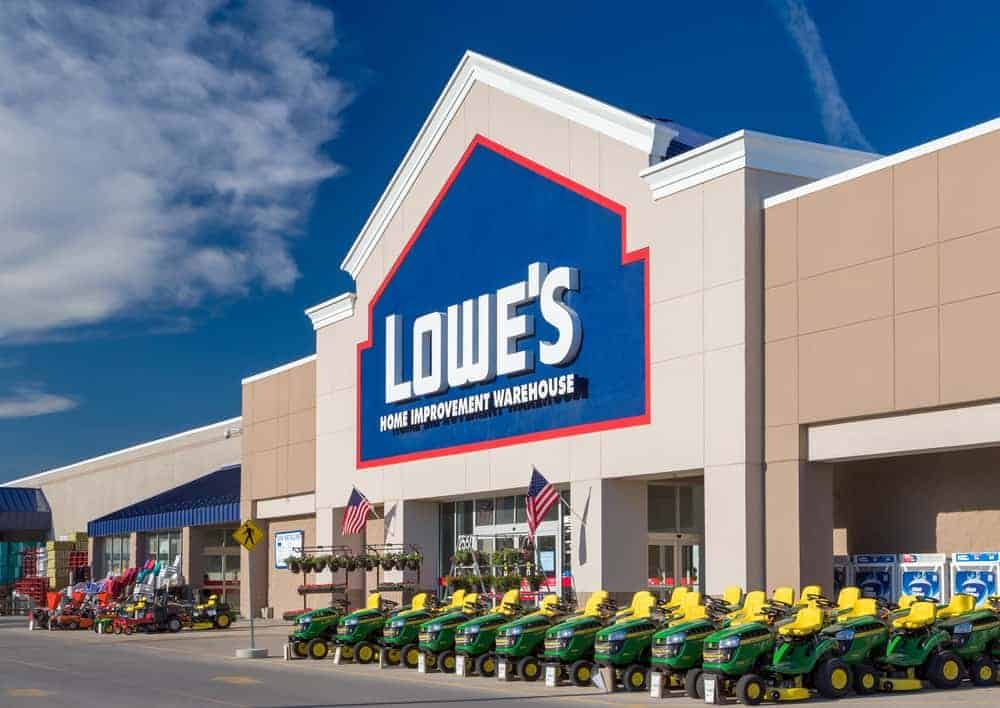 Exterior of Lowe's building.