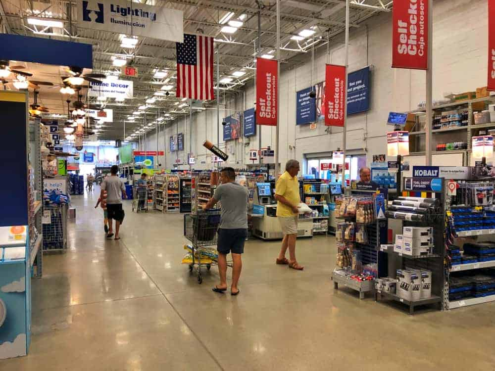 Customers shopping at Lowe's.