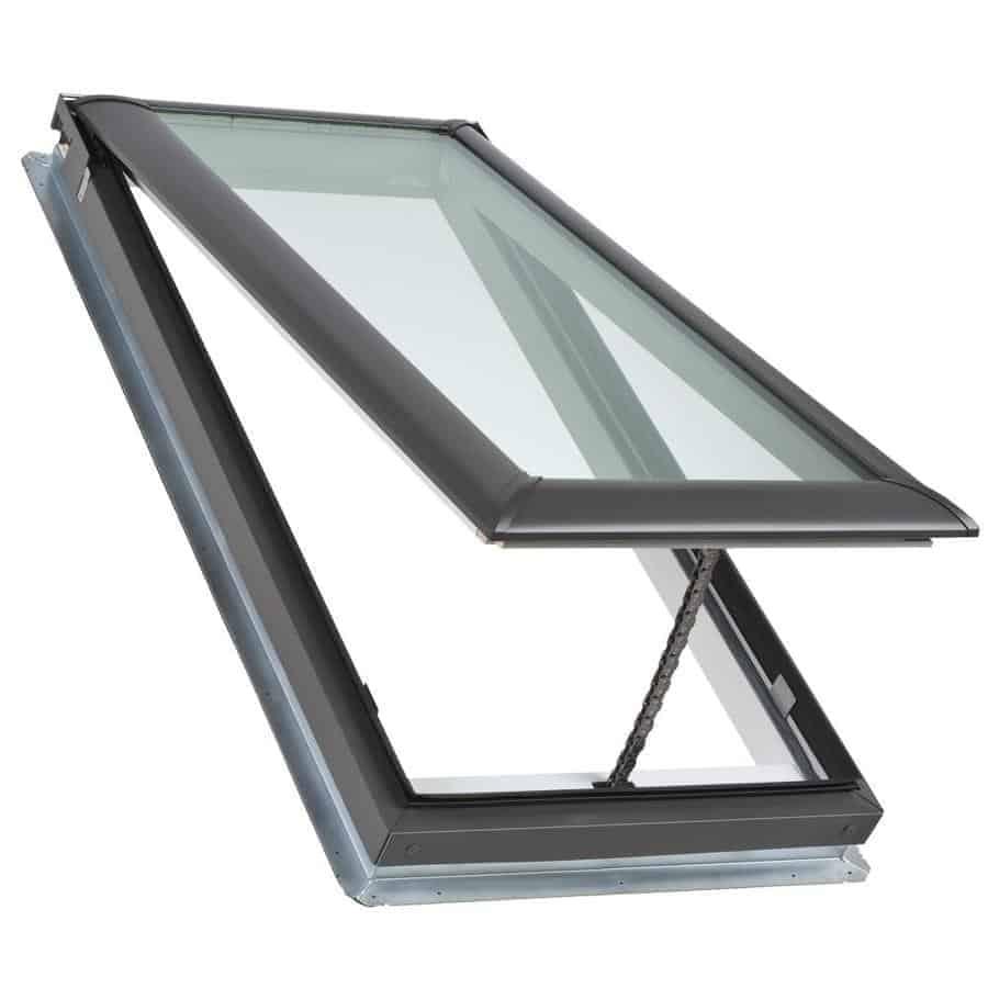 Manual control rod skylights