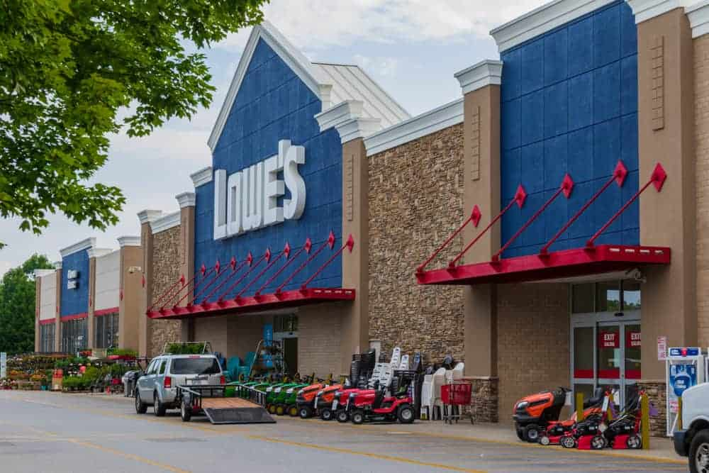Lowe's store in Hickory, NC, USA.