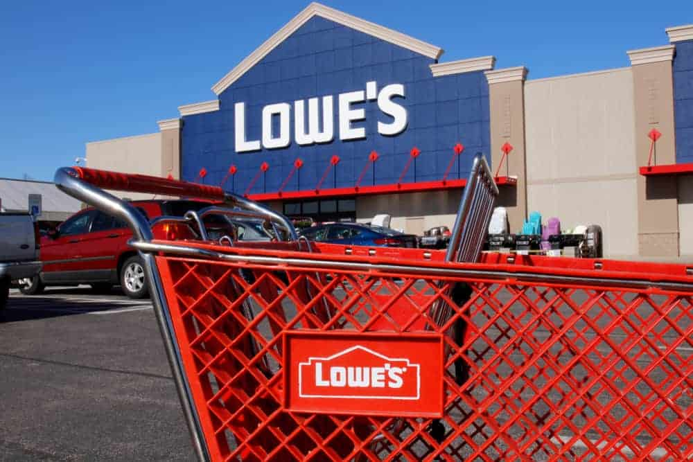 Lowe's shopping cart left at the parking lot.