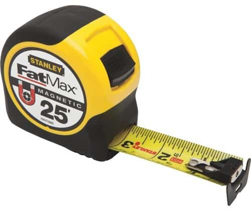 Stanley 25-feet Fatmax magnetic tape.