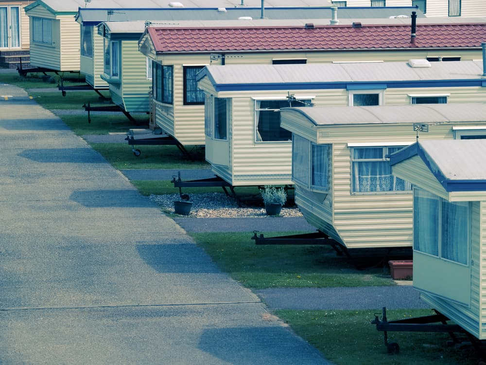 Mobile home site in Sussex, UK.