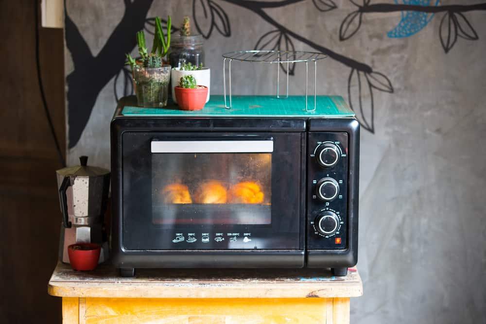 Old vintage microwave oven.