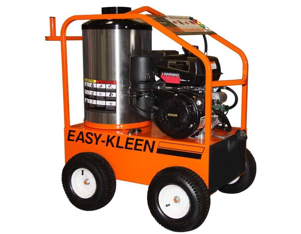 Hot pressure washer in orange.