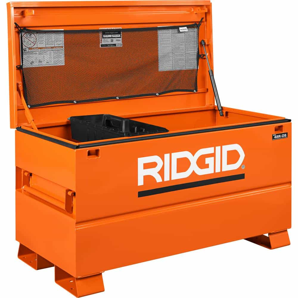 A universal storage trunk in Orange,