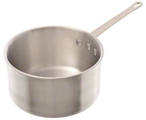 Browne 11 quarts aluminum heavy weight sauce pan.