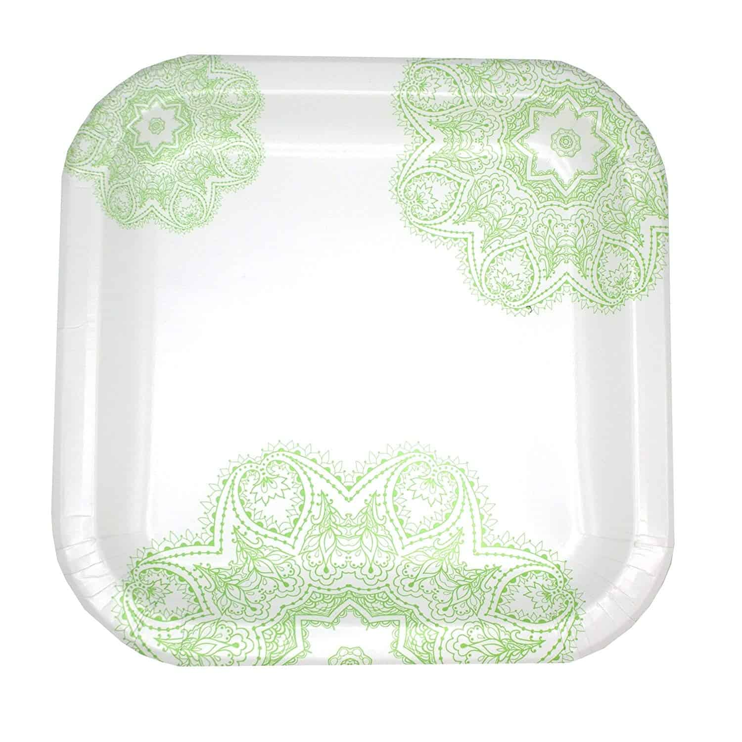 This package of coated plates with flower design is a beautiful option for wedding showers, birthdays, tailgating, kid or adult celebrations, picnics, and many other occasions