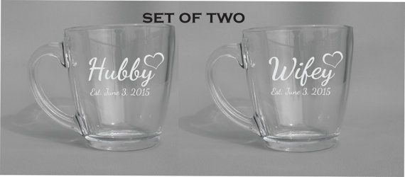 Dishwasher safe personalized coffee glasses.