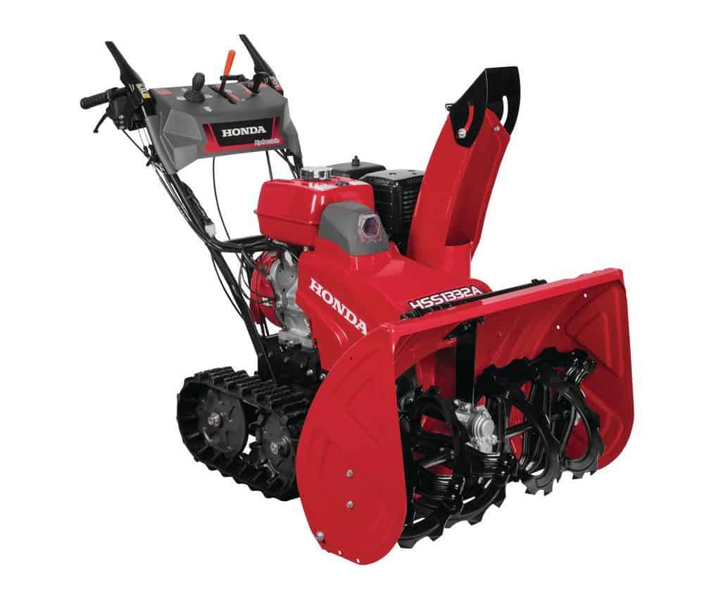 Electric snow blower with chute control.