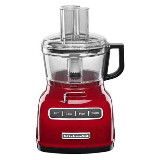 Medium-sized food processor in Red.