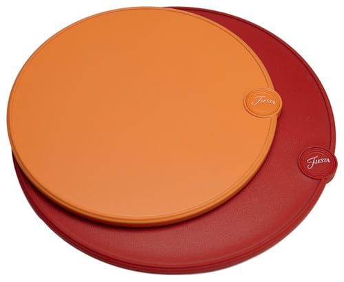 Red and orange silicone cutting boards.