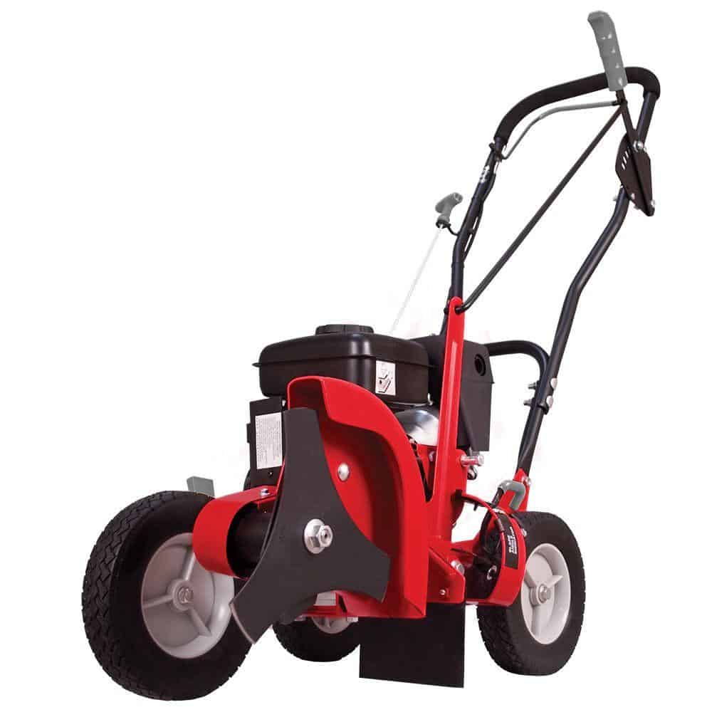 Gas-powered, walk-behind lawn edger in Red.