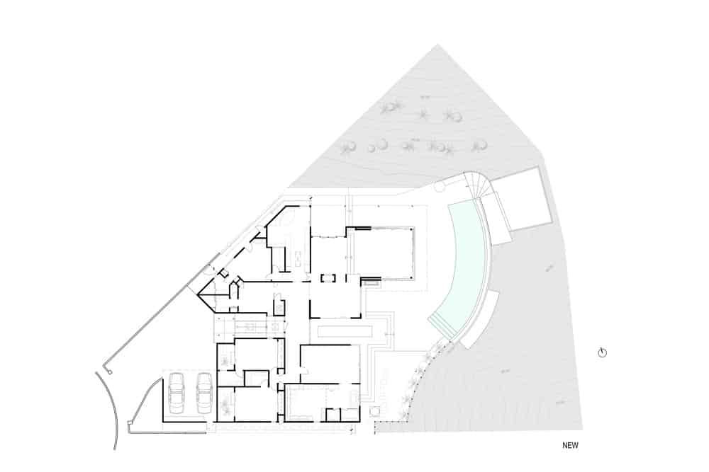 The property's architecture plan. Photo Credit: Gerhard Heusch