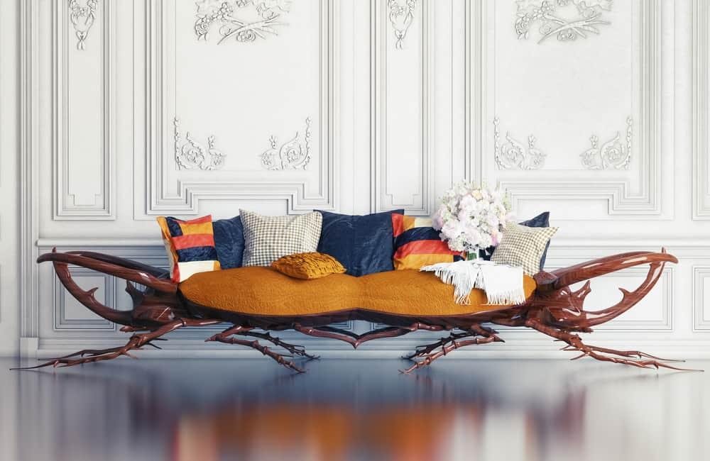 A rhino-beetle sofa.