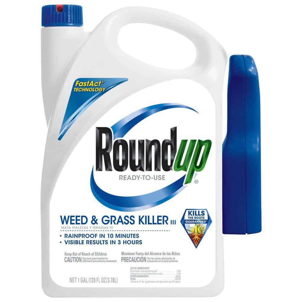 A gallon of weed and grass killer.