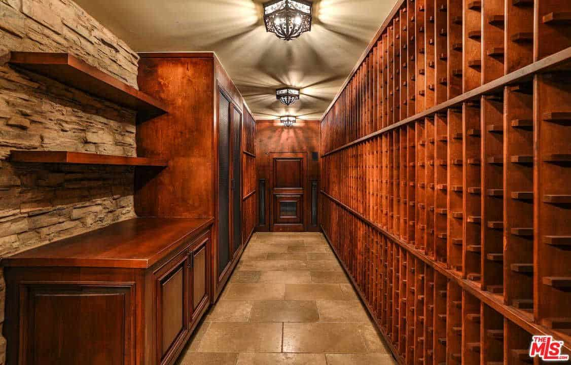 The Home Also Features A Wooden Wine Cellar With A Capacity Of 1,500  Bottles.