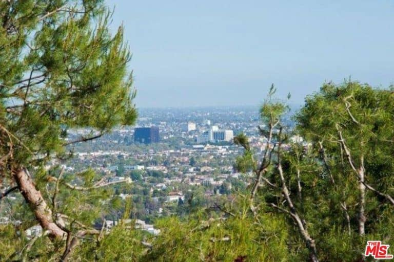 An amazing view of the city of Los Angeles from Sandra Bullock's West Hollywood home.