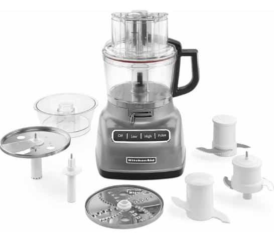 Nine-cup food processor with adjustable lever.