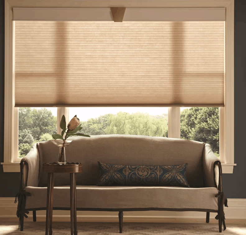 This single cell shade is made of soft and lofty spunlace fabric that gently filters light and has cordless lift top and bottom, light filtering and energy efficiency.