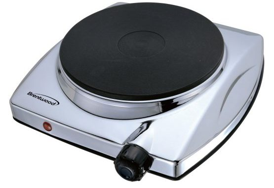SIngle, portable electric cooktop.