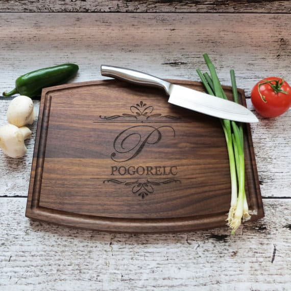 High-quality, wooden chopping board with a smooth finish.