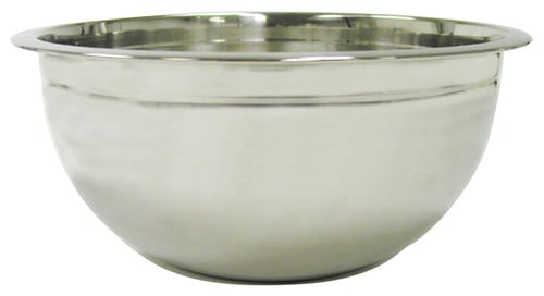8-quart, stainless steel mixing bowl.
