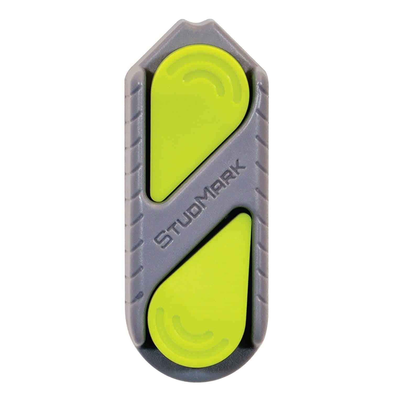 StudMark magnetic stud finder with 2 removable magnet markers.