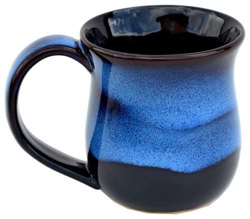 Garcia blue glaze stoneware coffee mug.