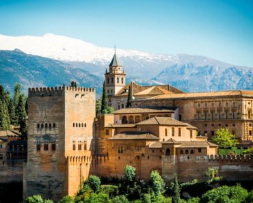 Ancient Arabic fortress of Alhambra, Granada, Spain.