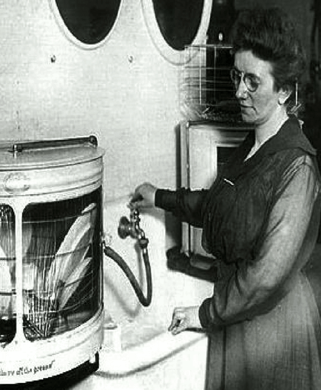 The first dishwasher.