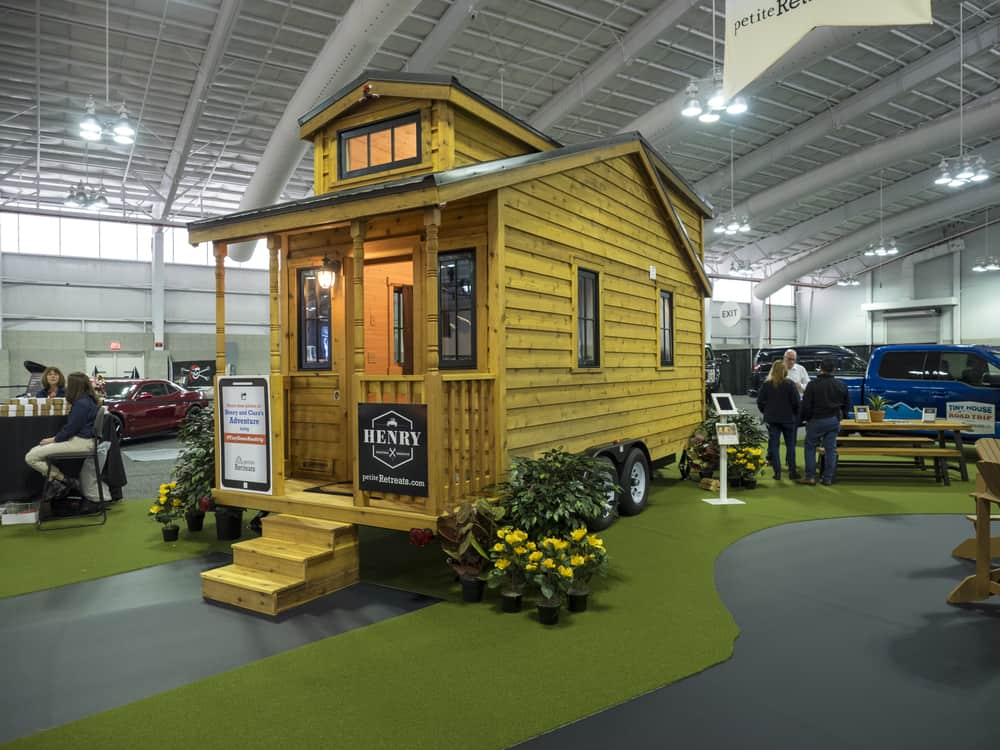 Tiny home in display.