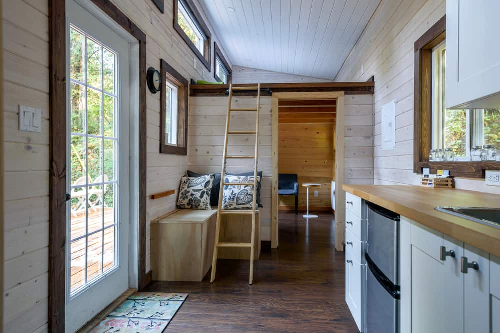 Interior of a tiny home.
