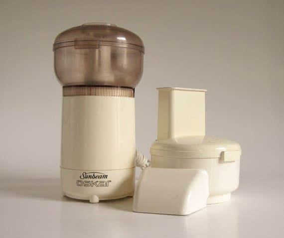 Vintage food processor with Interchangeable Blades.