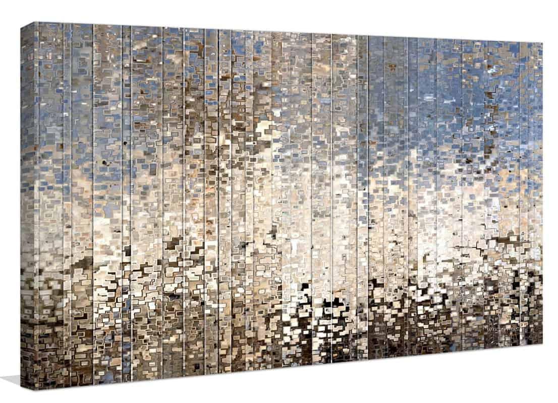 Metallic wall art