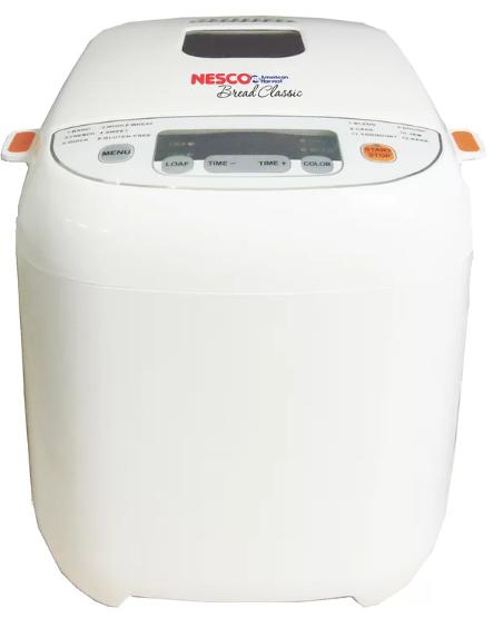 All-white bread machine that can create 1.5 pounds of loaf.