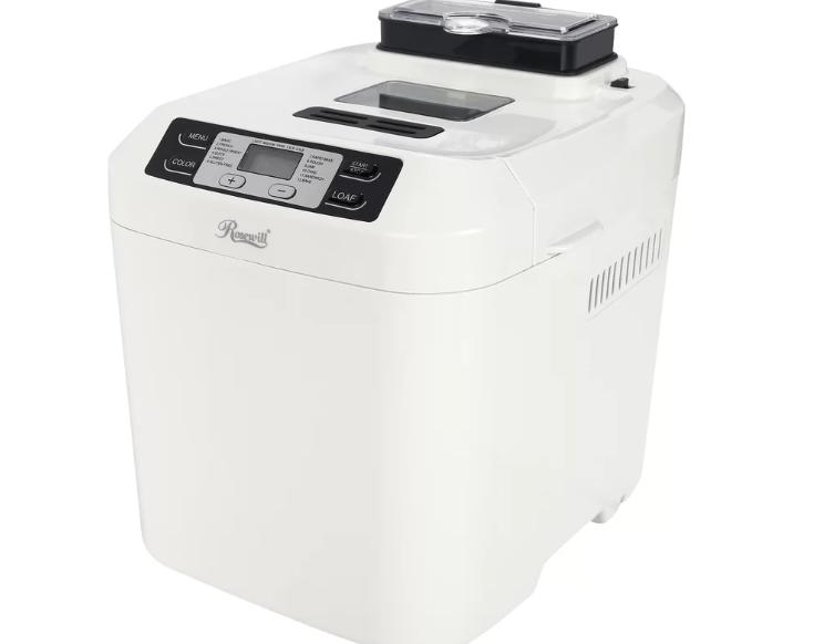 White bread machine with a jam maker.