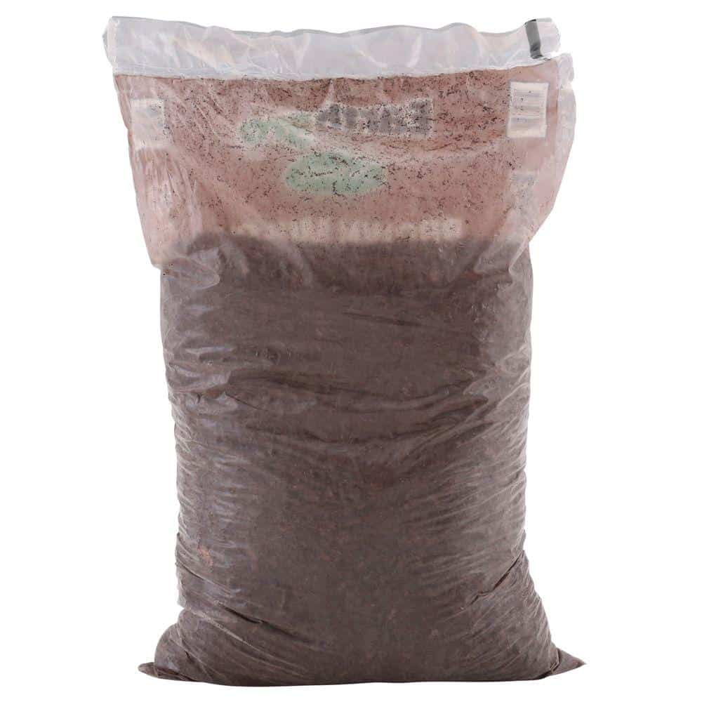 A pack of brown mulch for backyards.