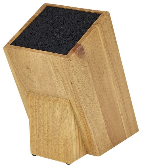 A universal, wooden knife block with a smooth finish.