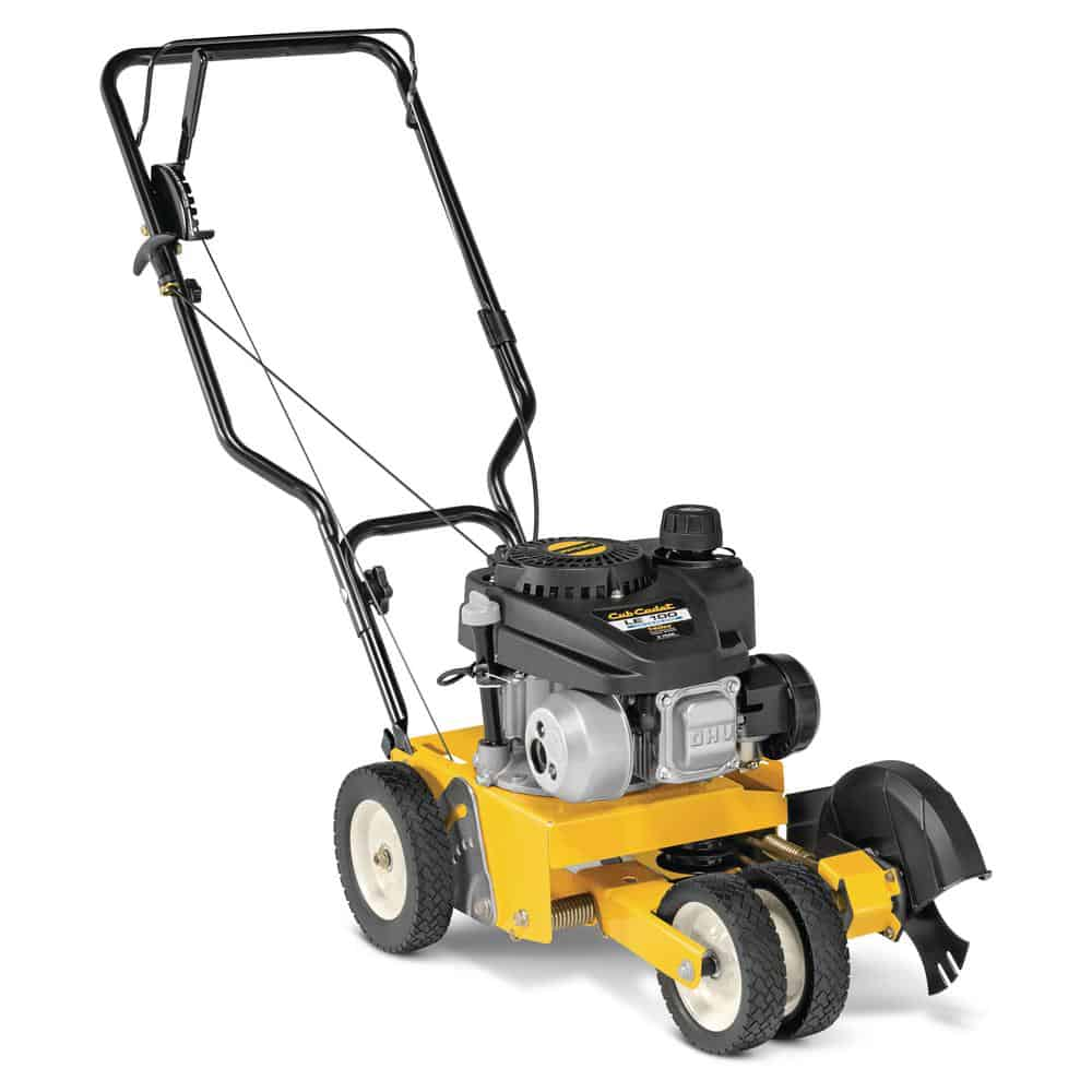 Black and yellow lawn edger with a 4-cycle engine.