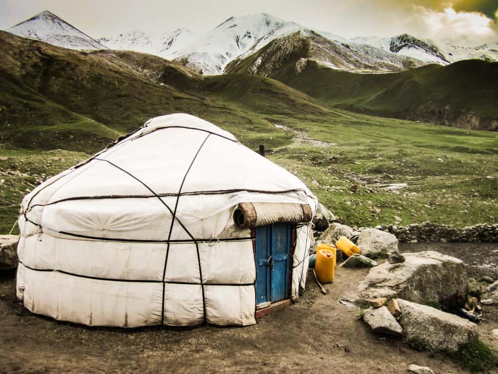 Shepards yurt in Kochkor area, Kyrgyztan.