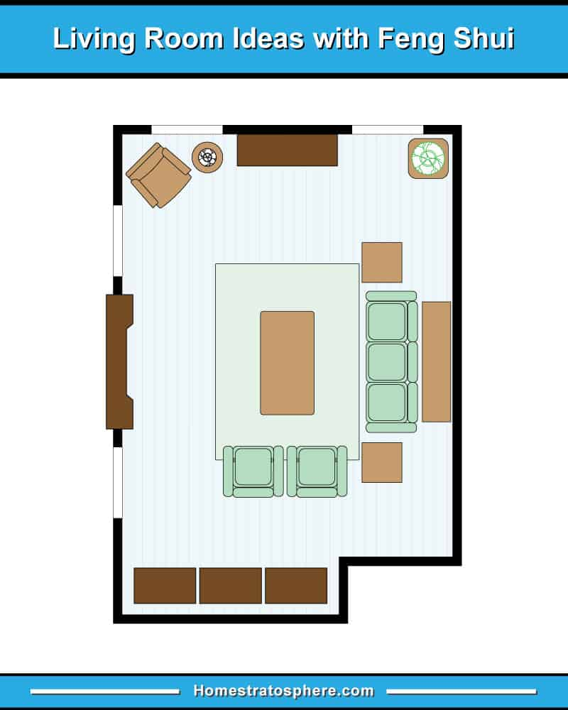 Living Room Color For Feng Shui 81 feng shui living room rules, colors and 12 layout diagrams