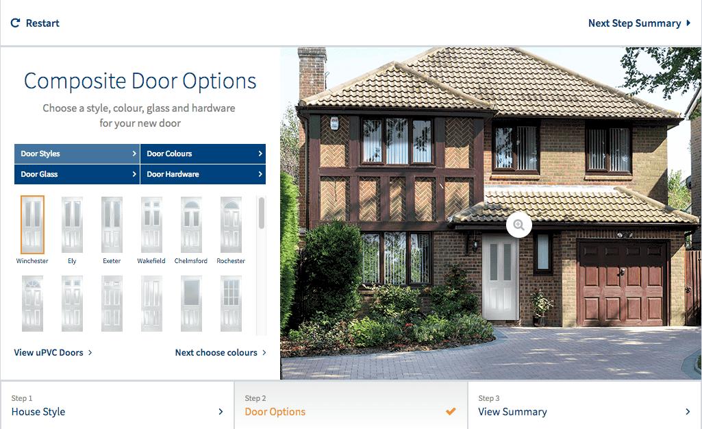 Front door visualizer software screenshot